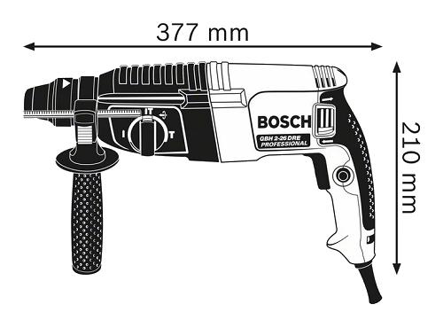 دریل بتن کن بوش مدل GBH2-26 DRE